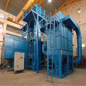 Spinner Hanger Double Door Type Shot Blasting Machine